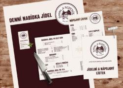 corporate identity vizuální styl Hostinec u Rozvědčíka