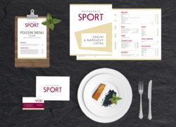 corporate identity vizuální styl Restaurace Sport