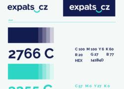expats.cz logo design manual